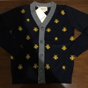 Gucci Shirts   Tops - Gucci Children s wool bees and stars cardigan 7809c065dafb